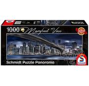 Schmidt Schmidt New York, Dark Night  Panorama Puzzle 1000pcs
