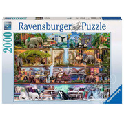 Ravensburger Ravensburger Wild Kingdom Shelves Puzzle 2000pcs