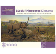 Pomegranate Pomegranate Black Rhinoceros Diorama Puzzle 1000pcs