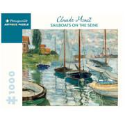 Pomegranate Pomegranate Claude Monet: Sailboats on the Siene Puzzle 1000pcs