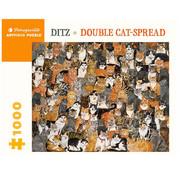Pomegranate Pomegranate Ditz: Double Cat-Spread Puzzle1000pcs