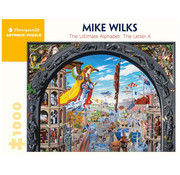Pomegranate Pomegranate Mike Wilks: The Ultimate Alphabet: The Letter A Puzzle 1000pcs