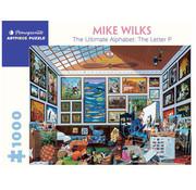 Pomegranate Pomegranate Mike Wilks: The Ultimate Alphabet: The Letter P Puzzle 1000pcs