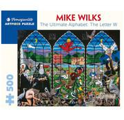 Pomegranate Pomegranate Mike Wilks: The Ultimate Alphabet: The Letter W Puzzle 500pcs