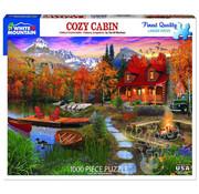 White Mountain White Mountain Cozy Cabin Puzzle 1000pcs
