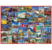 White Mountain White Mountain Best Places in Canada Puzzle 1000pcs
