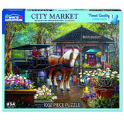 White Mountain White Mountain City Market Puzzle 1000pcs