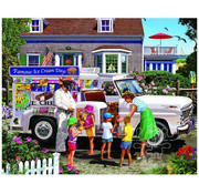 White Mountain White Mountain Ice Cream Truck Puzzle 1000pcs