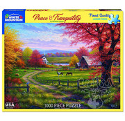 White Mountain White Mountain Peaceful Tranquility Puzzle 1000pcs