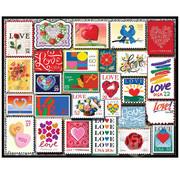 White Mountain White Mountain Love Stamps Puzzle 1000pcs