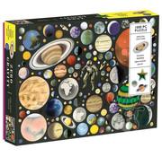 Galison Galison Zero Gravity Puzzle 1000pcs contains 20 Shaped Pieces