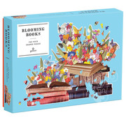 Galison Galison Blooming Books Shaped Puzzle 750pcs