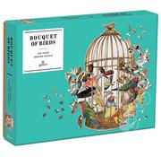 Galison Galison Bouquet of Birds Shaped Puzzle 750pcs