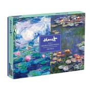 Galison Galison Monet Double Sided Puzzle 500pcs