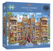 Gibsons Gibsons Castle Cutaway Puzzle 1000pcs