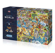 Gibsons Gibsons Wonderful World Puzzle 1000pcs