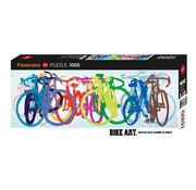 Heye Heye Colourful Row, Bike Art Panorama Puzzle 1000pcs