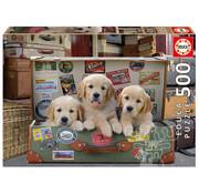 Educa Borras Educa Puppies in the Luggage Puzzle 500pcs