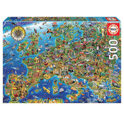 Educa Borras Educa Crazy Map of Europe Puzzle 500pcs