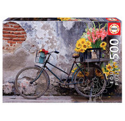 Educa Borras Educa Bicycle with Flowers Puzzle 500pcs