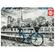 Educa Borras Educa Bike Near Notre Dame Puzzle 500pcs