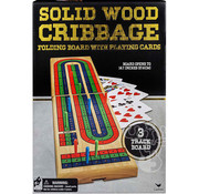 Cardinal Folding Wood Cribbage 3 Track Coloured