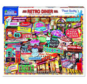 White Mountain White Mountain Retro Diner Puzzle 1000pcs