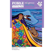 Canadian Art Prints Indigenous Collection: Makwa and His Quest for Honey Family Puzzle 500pcs