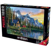 Anatolian Anatolian Sunset Cabin Puzzle 1000pcs