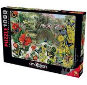 Anatolian Anatolian Peacock in the Garden Puzzle 1000pcs