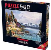 Anatolian Anatolian Mountain Cabin Puzzle 500pcs