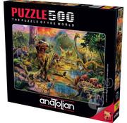 Anatolian Anatolian Landscape Of Dinosaurs Puzzle 500pcs