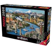 Anatolian Anatolian Popular Landmarks Puzzle 2000pcs
