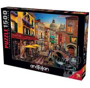 Anatolian Anatolian Canal Cafe Venice Puzzle 1500pcs