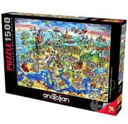 Anatolian Anatolian European World Puzzle 1500pcs