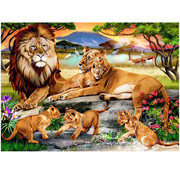 Willow Creek Willow Creek Lion's Family on the Savannah Puzzle 1000pcs