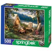 Springbok Springbok Evening at the Lake Puzzle 500pcs