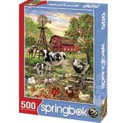 Springbok Springbok Barnyard Animals Puzzle 500pcs