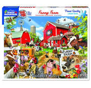 White Mountain White Mountain Funny Farm Seek & Find Puzzle 1000pcs