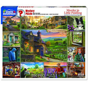 White Mountain White Mountain Murder in Little Piddling Puzzle 1000pcs
