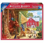 White Mountain White Mountain Barnyard Buddies Puzzle 550pcs