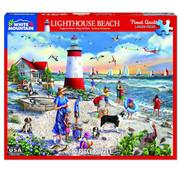 White Mountain White Mountain Lighthouse Beach Puzzle 550pcs