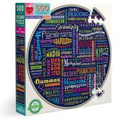 eeBoo eeBoo 100 Great Words Round Puzzle 500pcs