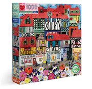eeBoo eeBoo Whimsical Village Puzzle 1000pcs