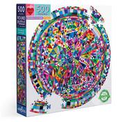 eeBoo eeBoo Triangle Pattern Round Puzzle 500pcs