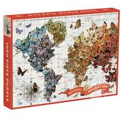 Galison Galison Butterfly Migration Puzzle 1000pcs