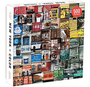 Galison Galison New York in Color Puzzle 500pcs