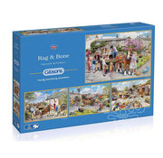 Gibsons Gibsons Rag & Bone Puzzle 4 x 500pcs