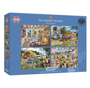 Gibsons Gibsons The Farmers Round Puzzle 4 x 500pcs