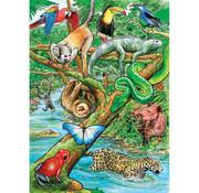 Cobble Hill Puzzles Cobble Hill Life in a Tropical Rainforest Tray Puzzle 35pcs